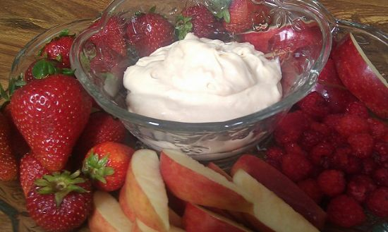 Caramel Cream Cheese Fruit Dip