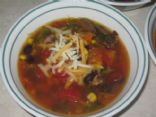 Black Bean Loaded Veggie Soup (no meat)