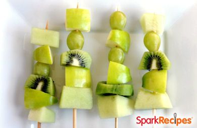 Healthy Green Fruit Kabobs
