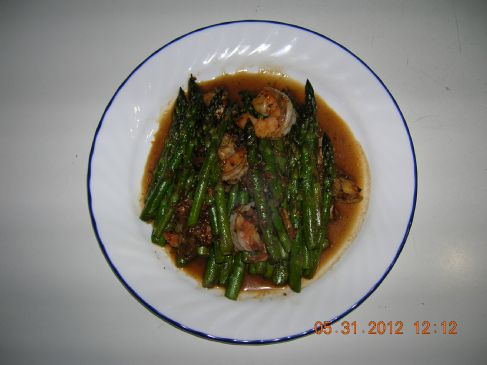 Spicy Stir Fry Asparagus with Shrimp