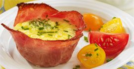 Easy Individual Turkey Bacon Breakfast Quiches (Trillium1204)