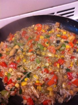 Low protein vegetable rice pilaf 