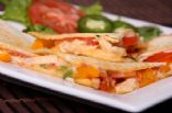 Chicken-Veggie Quesadillas with Ranch Yogurt Sauce