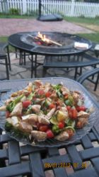 Grilled Chicken Rataouille Stir Fry