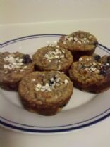 Gluten-Free Oatmeal Blueberry Muffins