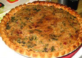 Spinach Walnut Bean Tart