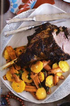 Grilled Leg of Lamb with Mint Sauce