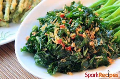 Crispy Garlic Kale with Chorizo and Beans