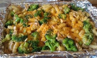 Cheesy Chicken and Broccoli Rotini Bake Recipe | SparkRecipes