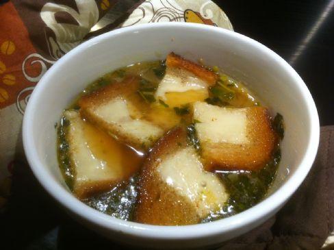 Onion Soup au Gratin with Rye Crouton