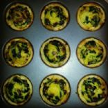 Spinach and Baby Bella Quiches