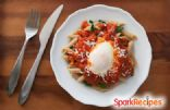 Easy Poached Eggs and Pasta