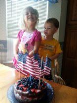 Patriotic Low Fat Chocolate Cake
