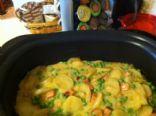 Slow Cooker Ham and Potato w/Sweet Peas