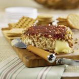 Baked Brie with Nut Crust