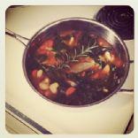 Lima Bean, Carrot, & Swiss Chard Soup (vegetarian)