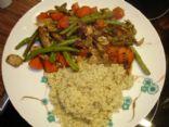 Chicken, carrot and bulgur dinner