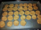 Low sugar, low fat, peanut butter cookies