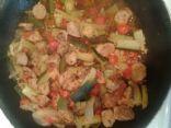 Sausage and Zuchinni Stir fry