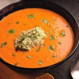 Paprika & Red Pepper Soup with Pistachio Puree (Trillium1204)