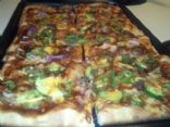 My Son's Homemade Vegetable BBQ Pizza