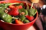 Chef Meg's Baby Spinach Salad with Strawberries and Toasted Almonds