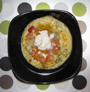 Mexican Breakfast Pizza (Adapted from Hungry Girl)