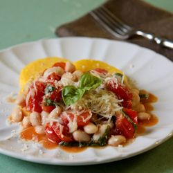 Polenta with Beans and Tomatoes