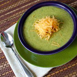 Broccoli, Cheddar and Potato Soup