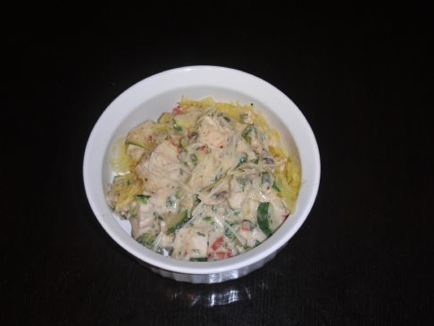 Robin's Chicken Vegetable Alfredo