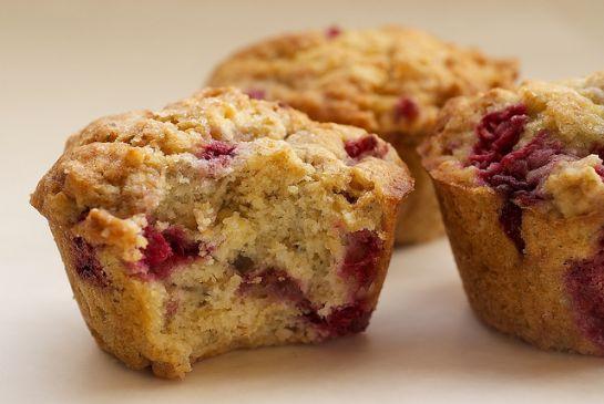 Bulked Up Orange Glazed Raspberry Oatmeal Muffins Recipe ...