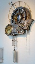 Large Gear Wall Clock Moving Gears