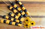 Olive & Cheese Halloween Snack Kebabs