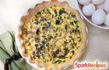 Feta Mushroom Spinach Quiche