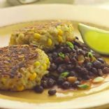 Rice & Corn Cakes w/ Black Bean Salsa