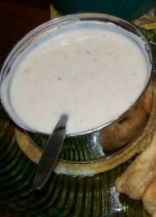 Coconut milk white gravy.