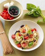 Meditteranean Pasta with Artichokes, Olives and Tomatoes