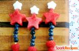 Fireworks Kebab (Patriotic Fruit Skewers)