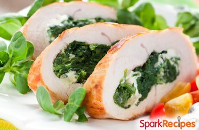 Grilled Pesto & Ricotta Stuffed Chicken Breasts
