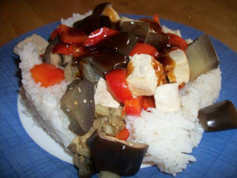 Simple Eggplant Tofu