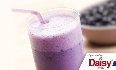 Banana Blueberry Smoothies from Daisy Brand 