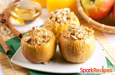 Nutty Baked Apples with Raisins