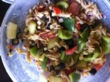 MAKEOVER: Greek Pasta Salad, Homemade Greek Dressing (by COLBIJEAN)