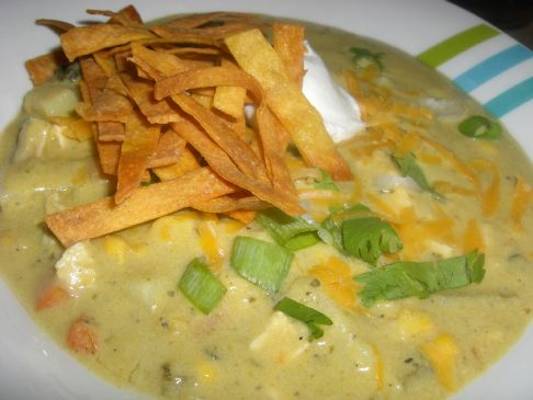 Roasted Poblano Chicken Chowder