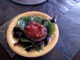 Mexican Open Face Bison Burger