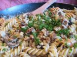Pasta with Caramelized Vidalias and Blue Cheese