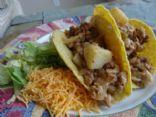 Turkey and Potato Taco