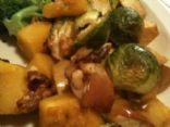 Roasted Squash & Brussel Sprouts with Apples