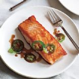 Seared Salmon with Jalape�o Ponzu **High Protein/Low Carb