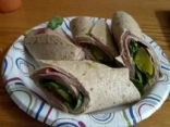 Ham, turkey, spinach, avocado wrap